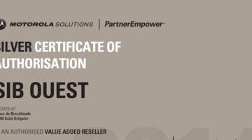 article-SIB Ouest obtient le Silver Certificate of Authorisation de Motorola