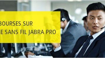 article-Recevez 50 € de remboursement pour tout achat d'un casque sans fil JABRA PRO
