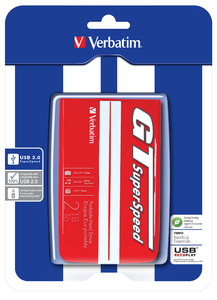 Verbatim GT SuperSpeed USB 3.0 2 To Rouge