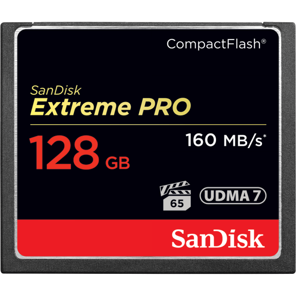 SANDISK EXTREME PRO COMPACTFLASH MEMORY CARD 128GB