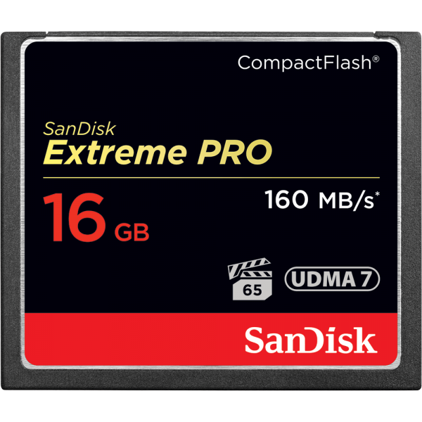 SANDISK EXTREME PRO COMPACTFLASH MEMORY CARD 16GB