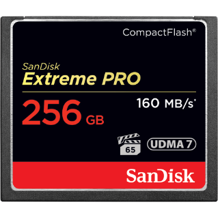 SANDISK EXTREME PRO COMPACTFLASH MEMORY CARD 256GB