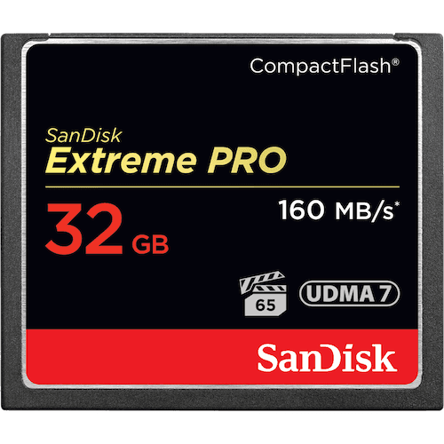 SANDISK EXTREME PRO COMPACTFLASH MEMORY CARD 32GB
